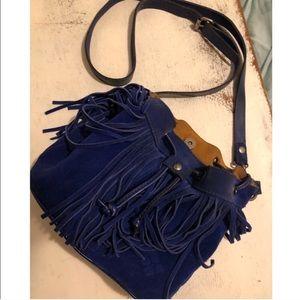 Patricia Nash cobalt blue mini bag
